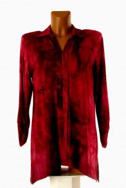 Vínová batiková tunika