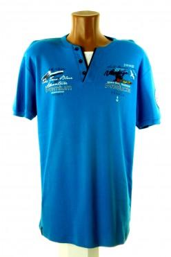 Modré stylové tričko VIOLENTO