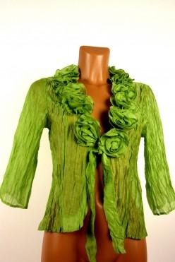 Zelené bolerko na uzel vel: UK8/S-M