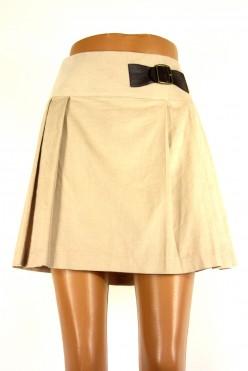 Manžestrová béžová mini sukně-FALMER :12/L-XL
