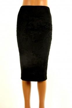 Nová elegantní pouzdrová černá sukně Papaya :uni