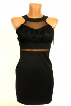 Koktejlové černé mini šaty