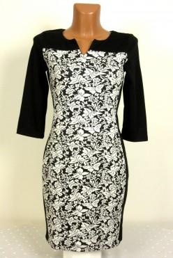 Stylové černo-bílé šaty