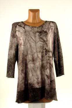 Hnědá batiková tunika