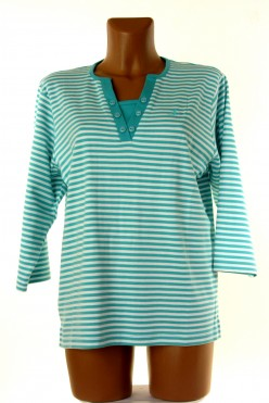 Pruhované tričko bílo-zelené