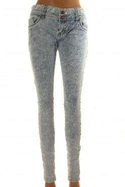 Světlé džíny s krajkou