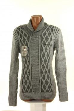 Vlněný šedý pánský svetr