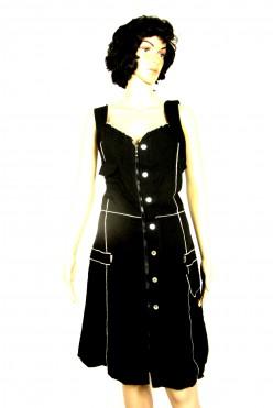 Černé letní šaty na zip